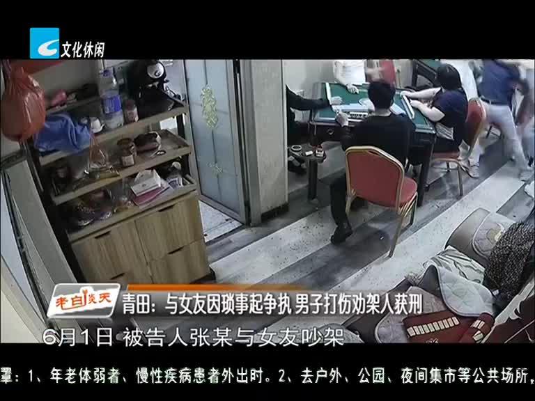 青田:与女友因琐事起争执 男子打伤劝架人获刑